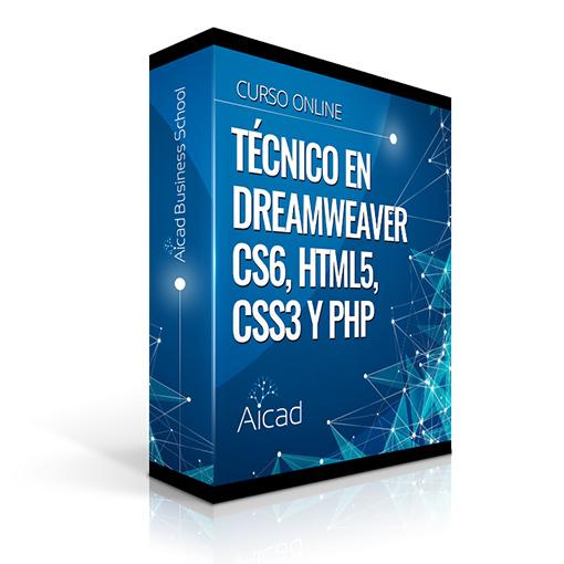 Course Image Técnico en Dreamweaver CS6, HTML5, CSS3 y PHP