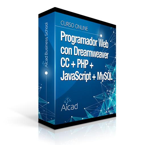 Course Image Programador Web con Dreamweaver CC + PHP + JavaScript + MySQL